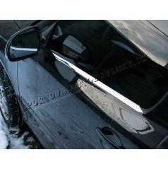 Škoda Octavia II Limousine 04-12 - NEREZ chrom spodní lišty oken - OMSA LINE