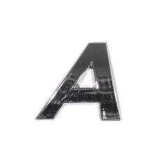 Chrom samolepící písmenka a znaky (2 velikosti)