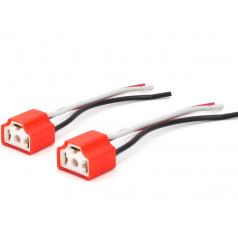 Keramická pätica H4 / 2ks - 15 cm kábel