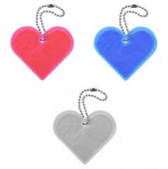 Přívěšek reflexní Srdce - různé barvy