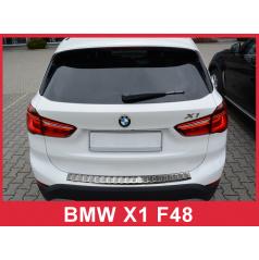 Nerez kryt- ochrana prahu zadního nárazníku BMW X1 F48 2015+
