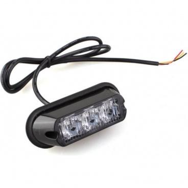 Stroboskopické světlo oranžové 3 LEDx4W R65 R10