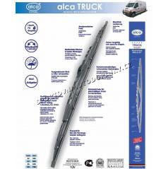 Německé kvalitní kovové stěrače ALCA TRUCK s grafit. břitem  (uchycení na hák)