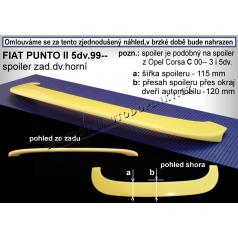 FIAT PUNTO II 5D (99+) spoiler zad. dveří horní (EU homologace)