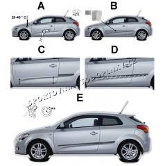 Boční lišty dveří - Honda Civic Sedan, 2012 -, 5 dveř