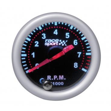 Přídavný budík Race Sport Otáčkoměr 0-8000 RPM 52 mm černý