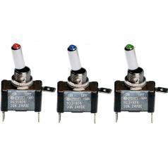 Vypínač s LED diodou  ON/OFF 3 barvy