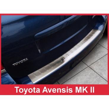 Nerez kryt- ochrana prahu zadního nárazníku Toyota Avensis II Mk kombi 2002-09