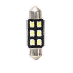 6 LED žárovky SV8,5 Canbus T11x36mm 2ks