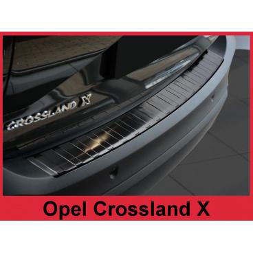 Nerez kryt- černá ochrana prahu zadního nárazníku Opel Crossland X 2017+