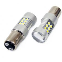 Žiarovky 24 SMD LED BAY15d (P21 / 5W) biele 12 / 24V CAMBUSA (2 ks)