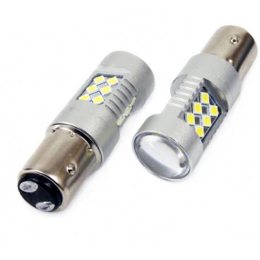 Žárovky 24 SMD LED BAY15D  (P21/5W) bílé 12/24V CAMBUS (2 ks)