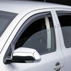 Větrné clony - ofuky oken (deflektory, plexi), Škoda Rapid SPACE BACK 2012->, přední+zadní