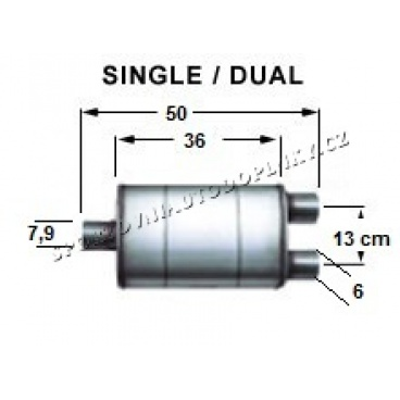 Sportovní výfuk Magnaflow turbo XL1 dual koncovka 2x60 mm, 1x79 mm (13278)