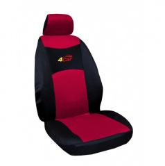 Autopotahy 4Car-Škoda Fabia I-dělená zadní sedačka-červené