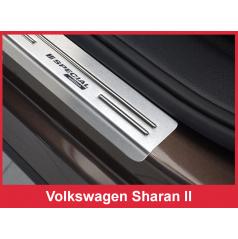 Nerez ochranné lišty prahu dveří 4ks Speciální edice Volkswagen Sharan 2 2010-16