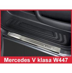 Nerez ochranné lišty prahu dveří 2ks Mercedes V W447 2014-16
