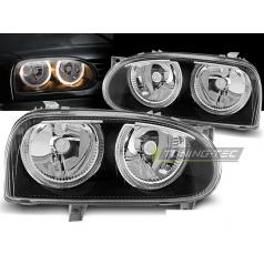 VW Golf 3 09.1991-08.1997 přední čirá světla angel eyes black (LPVW29)