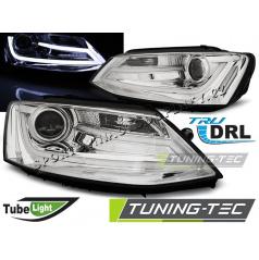 VW Jetta VI 1.2011-  přední čirá světla Tube Light chrome (LPVWK7)