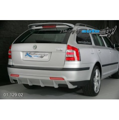 Škoda Octavia II Difuzor zadního nárazníku - combi pro lak