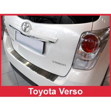 Nerez kryt- ochrana prahu zadního nárazníku Toyota Verso 2013-17