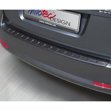 Prah piatych dverí s výstupkami - čierna metalíza - Škoda Octavia II. Limousine 2004-2008, RS Lim. facelift 2008-2012