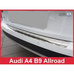Nerez kryt- ochrana prahu zadního nárazníku Audi A4 B9 Allr. 2016+