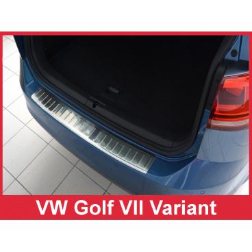 Nerez kryt- ochrana prahu zadního nárazníku Volkswagen Golf VII kombi 2012-16