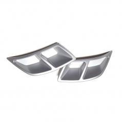 Spoilery zadního difuzoru - atrapy výfuku Turbo design Glowing white - Škoda Kodiaq