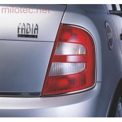 Lišty zadních světel - nerez, Škoda Fabia I Limousine