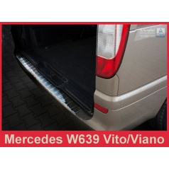 Nerez kryt-ochrana prahu zadního nárazníku Mercedes Vito, Viano W 639 2003-14