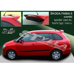 Škoda Fabia combi 2007+ spoiler zadních dveří horní (EU homologace)