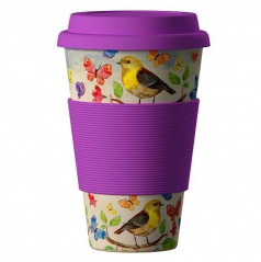 Termohrnek Bamboo Cup - Birds 400 ml