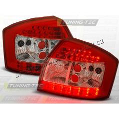 AUDI A4 (B6) 2000-04 ZADNÍ LED LAMPY RED WHITE (LDAU46)