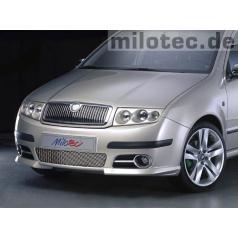 Lišty přední masky - nerez, Škoda Fabia Facelift