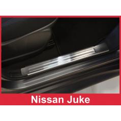 Nerez vnitřní ochranné lišty prahu dveří 2ks Nissan Juke 2010+