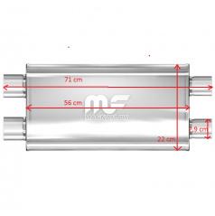 Sportovní výfuk Magnaflow performance 2xdual 79 mm