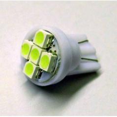 Žárovka 6 SMD LED T10 12V 5W - barvá bílá - 1 ks