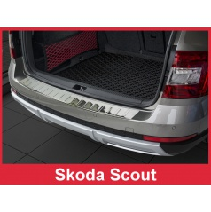 Nerez kryt- ochrana prahu zadního nárazníku Škoda Scout 2014-16