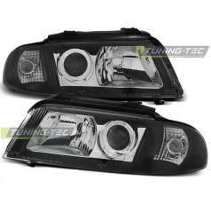 Audi A4 01.99-11.00 přední čirá světla black (LPAU01)