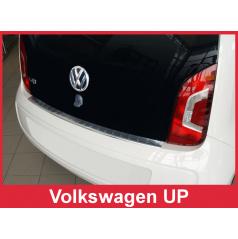 Nerez kryt- ochrana prahu zadního nárazníku Volkswagen UP 3D 5D 2012-16N