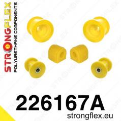 Audi A3 2003-13 StrongFlex Sport sestava silentbloků jen pro přední nápravu 6 ks