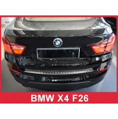 Nerez kryt- ochrana prahu zadného nárazníka BMW X4 F26 2014+