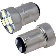 Žárovky 5 SMD LED BAY15D bílé 12V