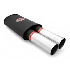Sportovní výfuk RM DUAL 2x76 mm, vstup 63 mm