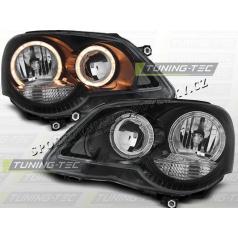 VW Polo 9N3 2005+ Predné číre svetlá Angel Eyes black (LPVWE3)