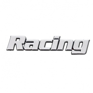 Chrom samolepící logo Racing