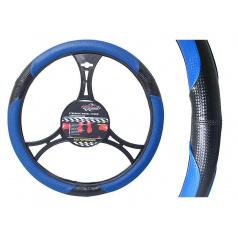 Potah na volant Fiber modrý - průměr 37-39mm