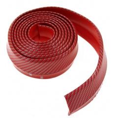 Univerzální spodní pružný  lip s podlepením červený  karbon vzor