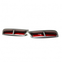 Škoda Superb III - spoilery zadního difuzoru alu - glowing red
